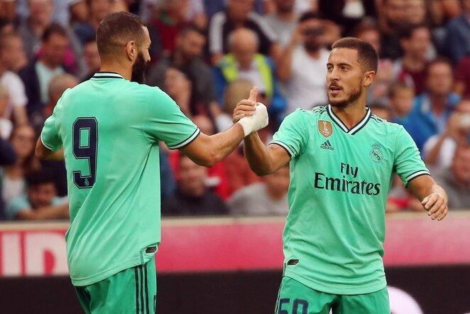 Karimas Benzema ir Edenas Hazardas   Scanpix nuotr.