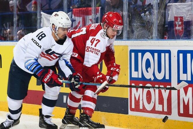 Danija – JAV rungtynių akimirka | IIHF nuotr.