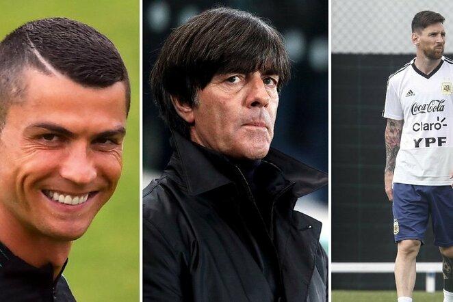 Cristiano Ronaldo, Joachimas Lowas ir Lionelis Messi | Scanpix nuotr.