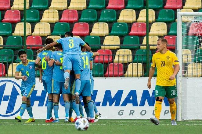 Lietuva –Kazachstanas rungtynių akimirka   Žygimanto Gedvilos / BNS foto nuotr.