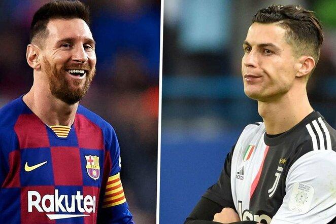 "Lionelis Messi ir Cristiano Ronaldo   ""Twitter"" nuotr."