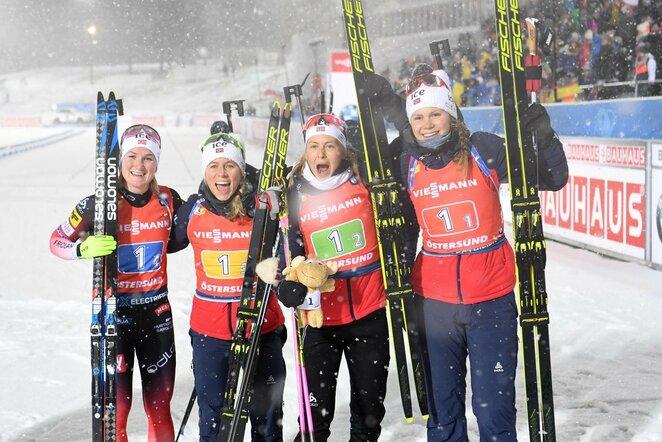 Norvegijos moterų biatlono rinktinė | Scanpix nuotr.