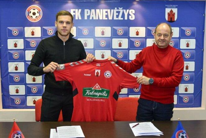 """P.Širvys pasirašė sutartį su """"Panevėžiu"""" Klubo foto"""