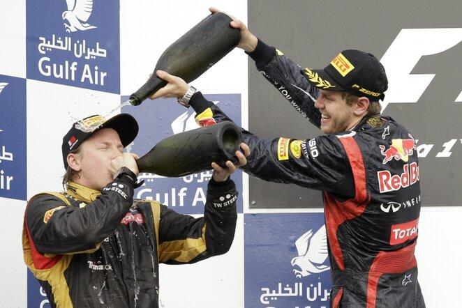Kimi Raikkonenas, Sebastianas Vettelis   AP/Scanpix nuotr.