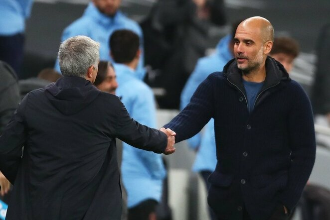 Jose Mourinho ir Pepas Guardiola | Scanpix nuotr.