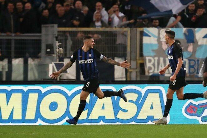 """Italijos """"Serie A"""": Romos """"Lazio"""" - Milano """"Inter""""   Scanpix nuotr."""