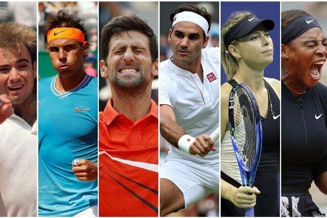 Daugiausiai per istoriją teniso kortuose uždirbę žaidėjai | Scanpix nuotr.