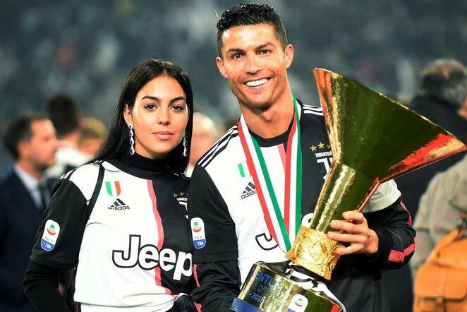Georgina Rodriguez ir Cristiano Ronaldo   Scanpix nuotr.