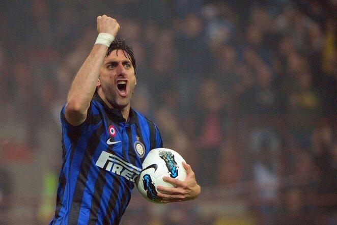 Diego Milito džiaugiasi įvarčiu | AFP/Scanpix nuotr.