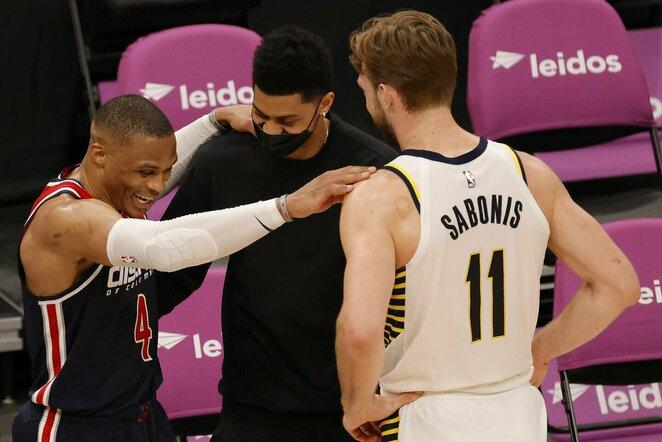 Westbrookas ir Sabonis   Scanpix nuotr.