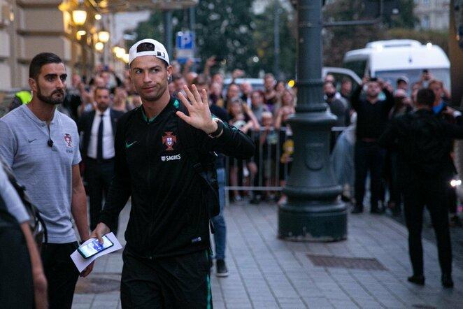 Cristiano Ronaldo atvyko į Lietuvą | Valdo Kopūsto/BNS Foto nuotr.