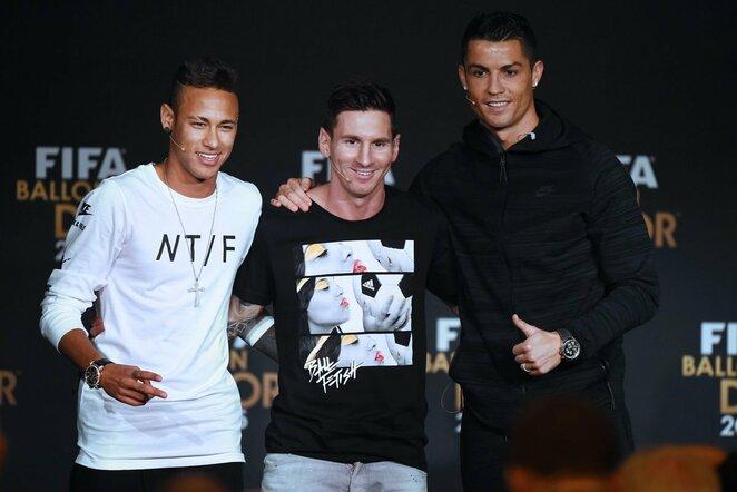Neymaras, L.Messi ir C.Ronaldo | Scanpix nuotr.