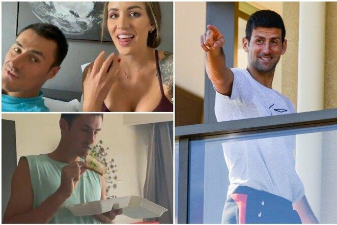 "Bernardas Tomičius, Vanessa Sierra ir Novakas Djokovičius   ""Scanpix"" ir instagram.com nuotr."
