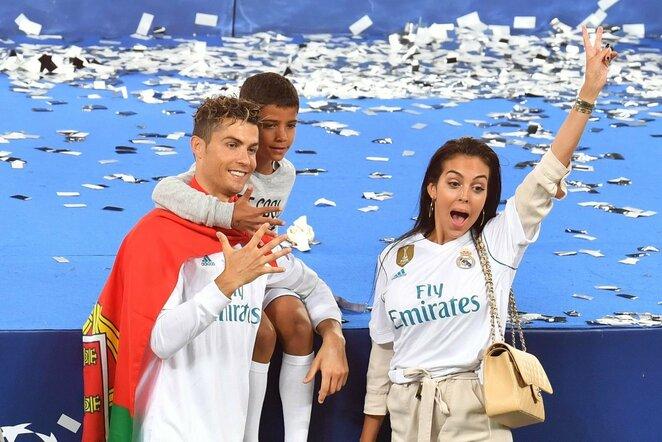 Cristiano Ronaldo su šeima   Scanpix nuotr.