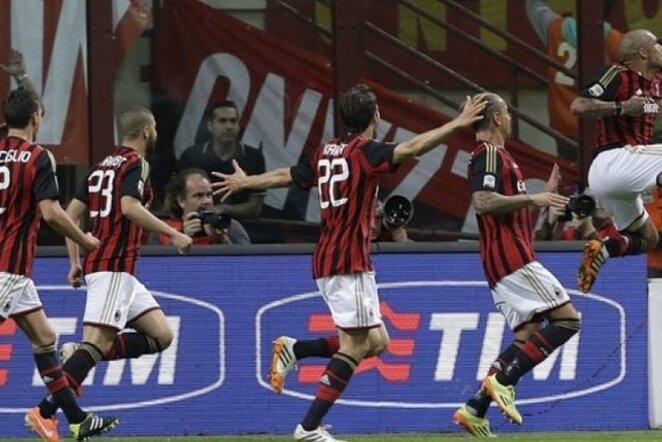 """""""Milan"""" futbolininkų džiaugsmas   AP/Scanpix nuotr."""
