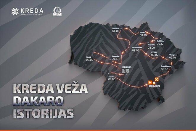 A.Juknevičius vasarą gerbėjams žada dalelę Dakaro   Organizatorių nuotr.