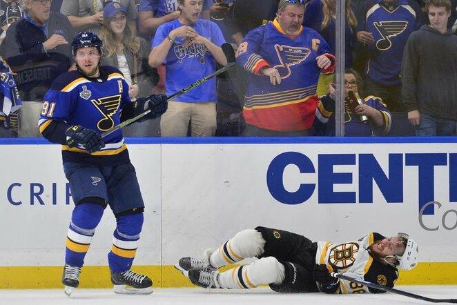"""Blues"" –""Bruins"" rungtynių akimirka | Scanpix nuotr."