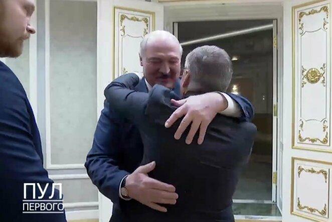 """Aleksandras Lukašenka ir Rene Faselis   """"Twitter"""" nuotr."""