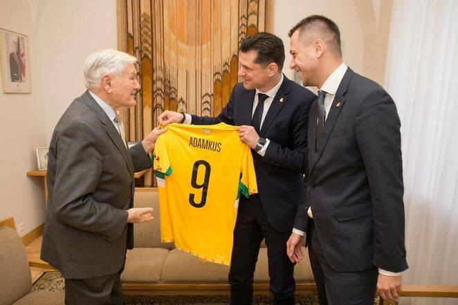 LFF vadovų susitikimas su V.Adamkumi | lff.lt nuotr.