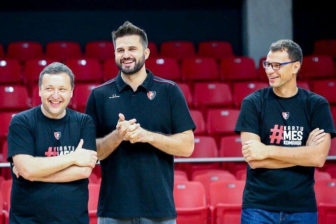 Antanas Guoga, Linas Kleiza ir Darius Gudelis Vidmanto Balkūno / BNS foto nuotr.