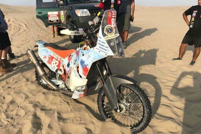 Balio Bardausko motociklas   Marijos Dubickienės nuotr.