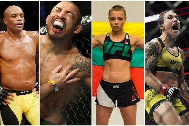 Andersonas Silva, Jose Aldo, Rose Namajunas, Jessica Andrade | Scanpix nuotr.
