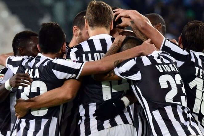 """""""Juventus"""" futbolininkų džiaugsmas AFP/Scanpix nuotr."""