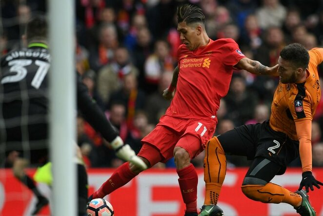 """Liverpool"" – ""Wolves"" rungtynių akimirka   Scanpix nuotr."