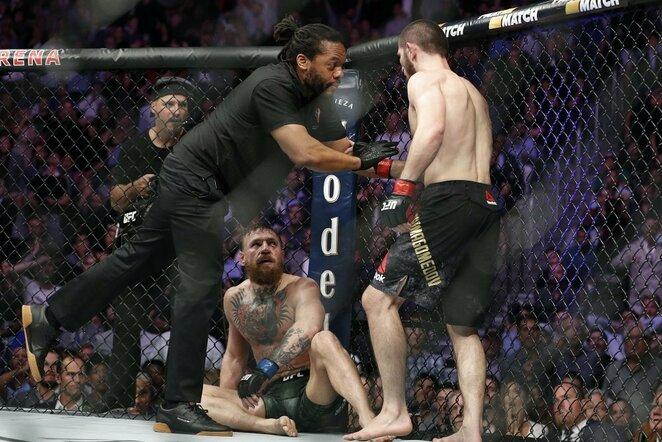 Conoras McGregoras prieš Chabibą Nurmagomedovą   Scanpix nuotr.