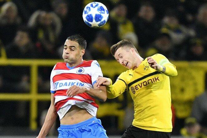 """Borussia"" – ""Club Brugge"" rungtynių akimirka  | Scanpix nuotr."