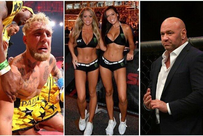Jake'as Paulas, UFC narvo merginos ir Dana White'as   Scanpix nuotr.