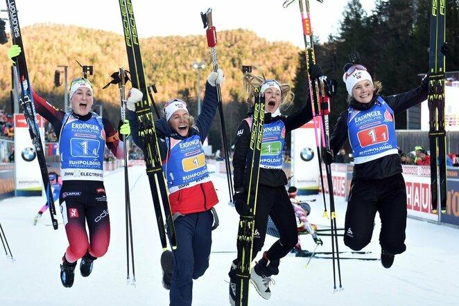 Karoline Offigstad Knotten, Ingrid Landmark Tandrevold, Tiril Eckhoff ir Marte Olsbu Roeiseland | Scanpix nuotr.