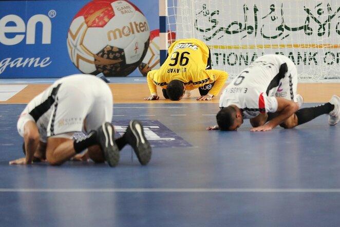 Egipto rinktinė po pergalės   Scanpix nuotr.