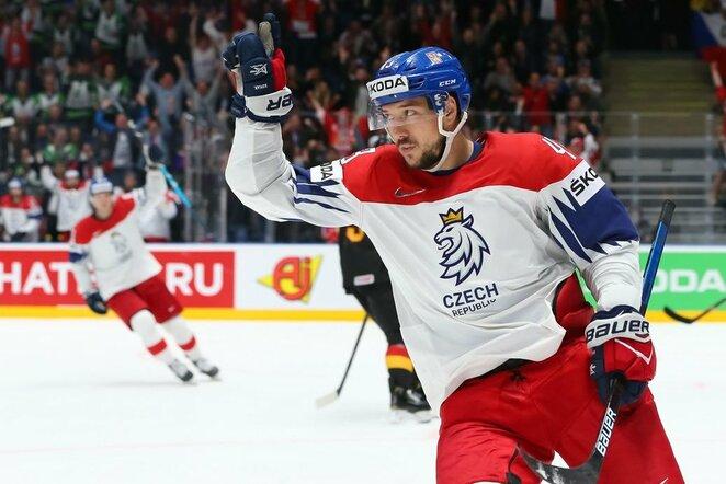 Čekų ir vokiečių rungtynės | IIHF nuotr.