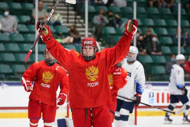 Amerikiečių ir rusų rungtynės   IIHF nuotr.