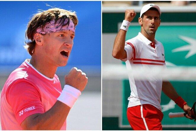 Ričardas Berankis ir Novakas Djokovičius | Scanpix nuotr.