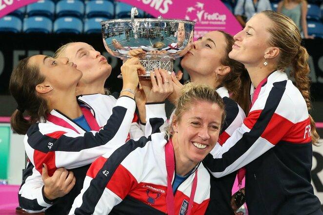 Prancūzijos moterų teniso rinktinė   Scanpix nuotr.