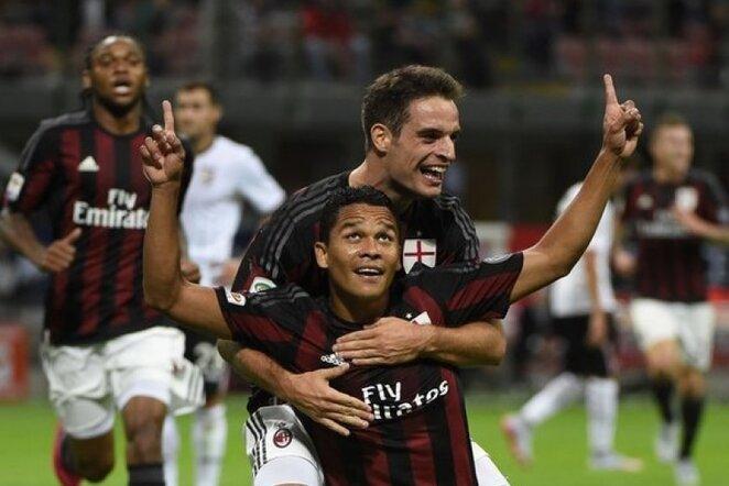 Carlosas Bacca ir Giacomo Bonaventura atvedė Milano klubą į pergalę | AFP/Scanpix nuotr.