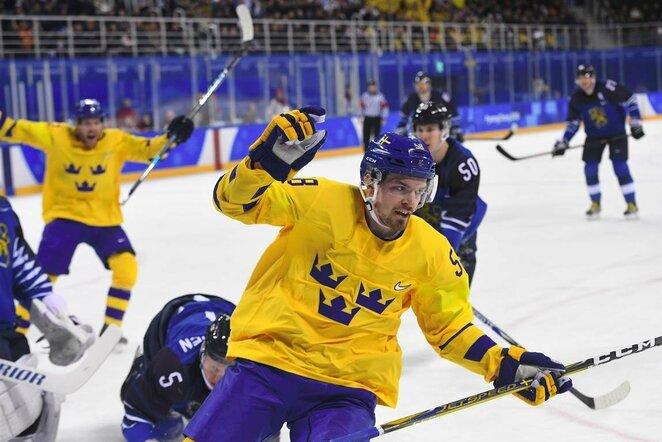 Švedijos ir Suomijos rinktinių rungtynės | Scanpix nuotr.