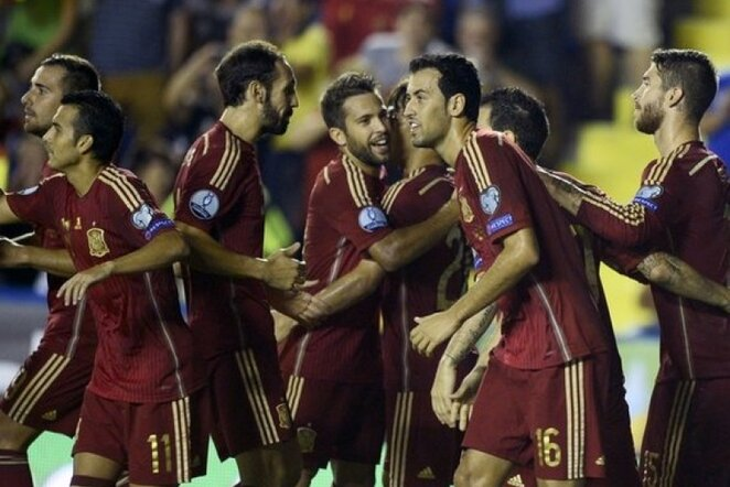 Ispanija džiaugiasi įvarčiu | AFP/Scanpix nuotr.