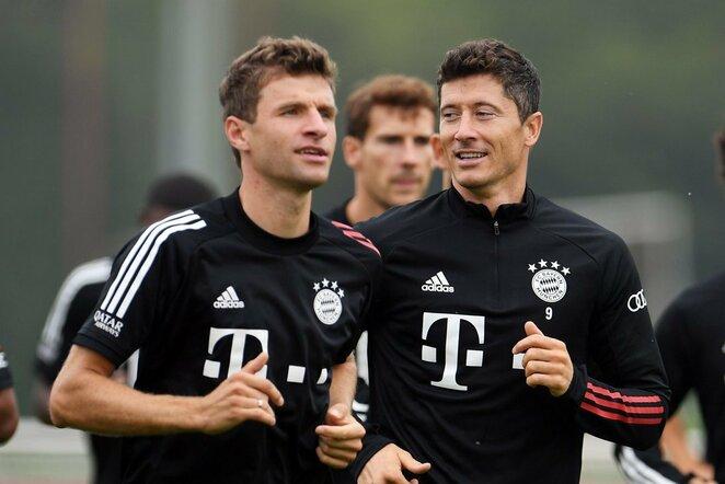 Thomas Mulleris ir Robertas Lewandowskis   Scanpix nuotr.