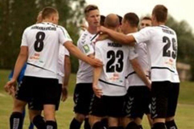 """""""Stumbro"""" futbolininkai švenčia įvartį   facebook nuotr."""