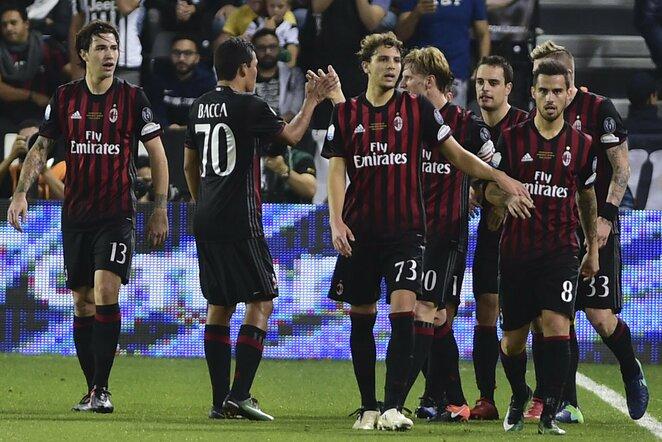 """""""Milan"""" futbolininkai švenčia įvartį   Scanpix nuotr."""