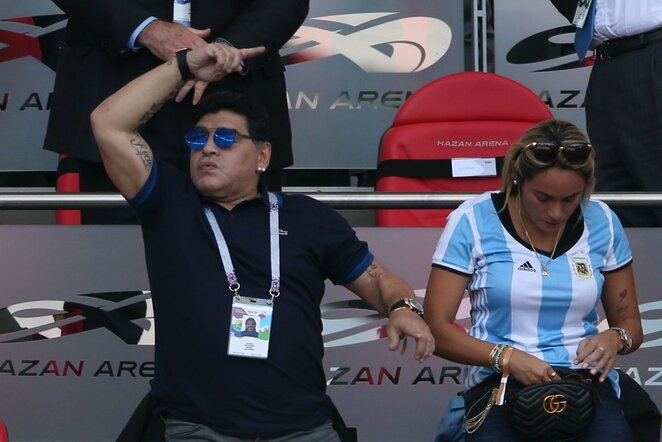 Diego Maradona ir Rocio Oliva | Scanpix nuotr.