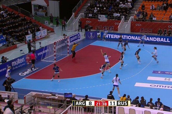 Rusių ir argentiniečių rungtynės   Youtube.com nuotr.