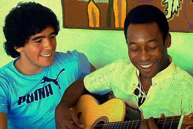 Diego Maradona ir Pele   Instagram.com nuotr