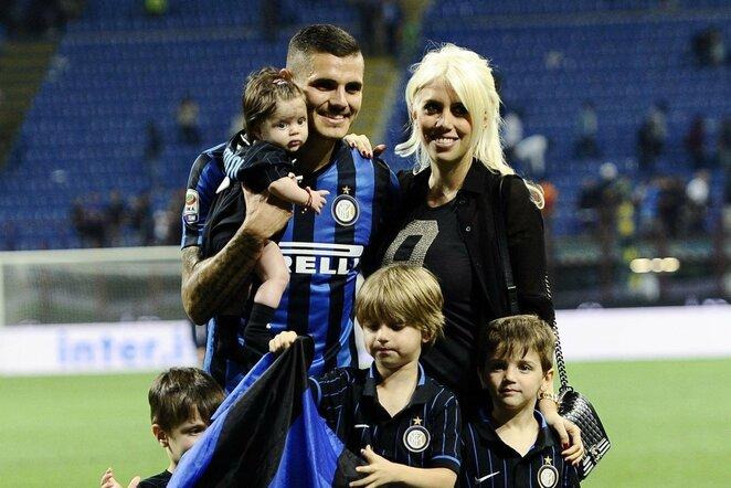 Mauro Icardi su šeima   Scanpix nuotr.
