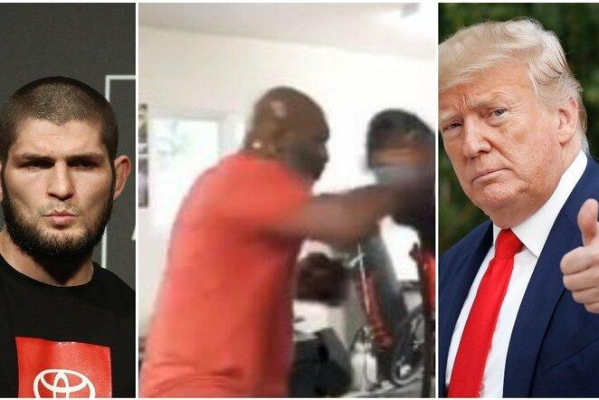 Chabibas Nurmagomedovas, Mike'as Tysonas ir Donaldas Trumpas   Scanpix nuotr.