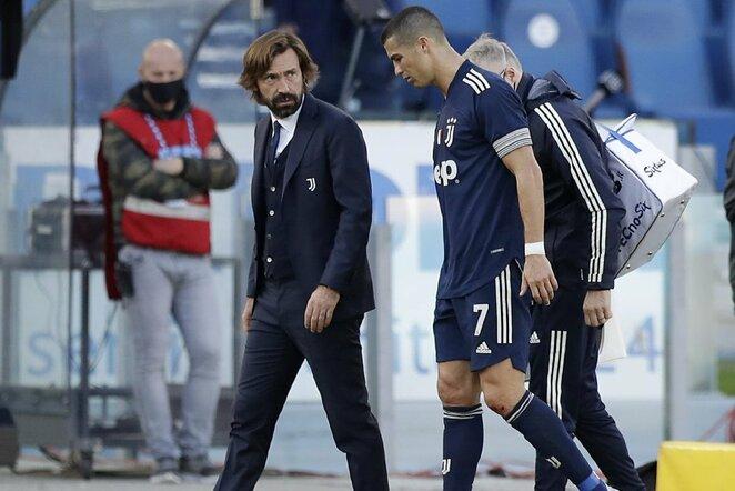 Andrea Pirlo ir Cristiano Ronaldo   Scanpix nuotr.