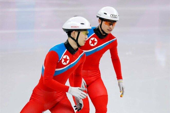 Šiaurės Korėjos čiuožėjų treniruotė Pjončange | Scanpix nuotr.